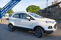 USED 2015 15 FORD ECOSPORT 1.5 TITANIUM X-PACK TDCI 5d 88 BHP BLUETOOTH, AIR CON, FULL BLACK LEATHER