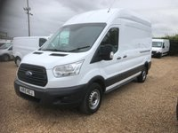 USED 2015 15 FORD TRANSIT 2.2 350 H/R P/V 1d 124 BHP 73000 MILES L3 H3 SERVICE HISTORY SECURITY LOCKS.