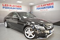 USED 2014 14 MERCEDES-BENZ C CLASS 2.1 C220 BLUETEC AMG LINE 4d 170 BHP LED Headlights, Bluetooth, 1 Owner, Full Leather, Reverse Camera
