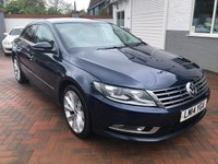 2014 VOLKSWAGEN CC 2.0 GT TDI BLUEMOTION TECHNOLOGY DSG 4d 138 BHP £9495.00