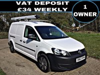 USED 2013 63 VOLKSWAGEN CADDY MAXI C20 1.6 C20 TDI STARTLINE 1d 101 BHP LONG WHEEL BASE, 1 OWNER