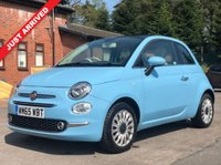 USED 2015 65 FIAT 500 1.2 LOUNGE 3d 69 BHP Beautiful FIAT 500 Lounge with Glass Panoramic Roof and Parking Sensors. Has just 2 previous Owners, comes with Full Service History and in addition to the Panoramic Roof and Parking sensors has Air Con, Bluetooth, Leather Multi Functional Steering Wheel, Radio, USB/AUX, Alloy Wheels, 2 Keys, a free warranty and an MOT until 30th December 2019. Nationwide Delivery Available. Finance Available at 9.9% APR Representative.