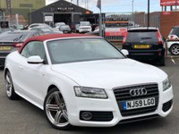 USED 2009 59 AUDI A5 2.0 TDI S LINE 2d 168 BHP *IBIS WHITE, RED ROOF, STUNNING CAR!*