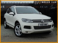 USED 2011 11 VOLKSWAGEN TOUAREG 3.0 V6 SE TDI BLUEMOTION TECHNOLOGY 5d AUTO 237 BHP *19'' ALLOYS, DAB DIGITAL RADIO, WHITE!*