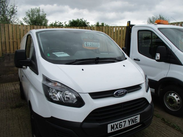 2017 67 FORD TRANSIT CUSTOM 2.0 TURBO DIESEL VAN 290 LR P/V 1d 105 BHP WHITE MANUAL