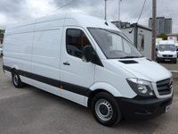 2017 MERCEDES-BENZ SPRINTER 314CDI LWB, 140 BHP [EURO 6], LOW MILES £19495.00