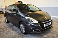 USED 2016 16 PEUGEOT 208 1.6 BLUE HDI ALLURE 5d 100 BHP Low mileage, metallic Grey 2016 Peugeot 208 1.6HDI Allure. Great spec including Bluetooth, Parking sensors & Cruise control!