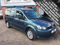 2015 VOLKSWAGEN CADDY MAXI C20 TDI KOMBI 2.0TDI  6 SPEED 140BHP FACTORY KOMBI / CREW VAN RARE COLOUR + SPEC £10995.00