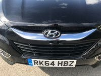 USED 2014 64 HYUNDAI IX35 2.0 CRDI SE NAV 5d AUTO 134 BHP 4WD IN METALLIC BLACK WITH 44,000 MILES! AND HUGH SPEC. APPROVED CARS AND FINANCE ARE PLEASED TO OFFER THIS HYUNDAI IX35 2.0 CRDI SE NAV 5 DOOR AUTOMATIC 134 BHP 4WD IN METALLIC BLACK WITH ONLY 44,000 MILES ON THE CLOCK AND A FULL SERVICE HISTORY. THIS VEHICLE HAS GOT A MASSIVE SPEC SUCH AS BLUETOOTH, 4WD, SAT NAV, HEATED SEATS, CLIMATE CONTROL, CRUISE CONTROL AND MUCH MORE. THIS IS A PERFECT 4WD VEHICLE WITH A SUPERB SERVICE HISTORY ALL MAIN DEALER THAT DRIVES EXCELLENT, NOT A VEHICLE TO BE MISSED FOR FURTHER INFORMATION PLEASE CALL ON 01622871555.