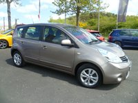 USED 2010 10 NISSAN NOTE 1.6 ACENTA 5d 110 BHP FULL SERVICE HISTORY, 12 MONTHS MOT, AIR CON, CRUISE CONTROL, ALLOYS, PRIVACY GLASS