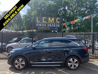 """USED 2018 18 KIA SORENTO 2.2 CRDI GT-LINE S ISG 5d AUTO 197 BHP STUNNING GRAVITY BLUE METALLIC PAINTWORK WITH FULL BLACK LEATHER UPHOLSTERY WITH GREY STITCHING. ONLY ONE OWNER FORM NEW. LOW MILEAGE. PANORAMIC GLASS ROOF WITH TILT/SLIDE. 8"""" TOUCH SCREEN MEDIA SCREEN WITH SAT NAV. 360 CAMERA. HEATED AND COOLED FRONT SEATS. ELECTRIC TAILGATE. ADAPTIVE CRUISE CONTROL. LANE ASSIST. PLEASE GOTO www.lowcostmotorcompany.co.uk TO VIEW OVER 120 CARS, SOME OF THE CHEAPEST ONLINE"""