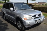 USED 2006 56 MITSUBISHI SHOGUN 3.2 ELEGANCE LWB DI-D 5d 159 BHP SERVICE HISTORY, 7SEATS, LEATHER UPHOLSTERY, ELECTRIC SUNROOF, CRUISE CONTROL, RADIO CD PLAYER, REAR PRIVACY GLASS