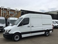 USED 2014 14 MERCEDES-BENZ SPRINTER 2.1 313CDI MWB HIGH ROOF 130BHP. 1 OWNER. FSH. FINANCE. 1 OWNER. LOW 75K. F/S/H. WARRANTY. PX WELCOME