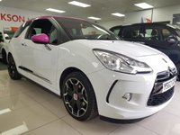 USED 2012 62 CITROEN DS3 1.6 DSTYLE PLUS 3d+LOW MILES+SERVICE HISTORY+PINK ROOF+LIMIETED EDITION+