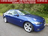 USED 2009 09 BMW 3 SERIES 2.0 320I SE 2d 168 BHP All retail cars sold are fully prepared and include - Oil & filter service, 6 months warranty, minimum 6 months Mot, 12 months AA breakdown cover, HPI vehicle check assuring you that your new vehicle will have no registered accident claims reported, or any outstanding finance, Government VOSA Mot mileage check. Because we are an AA approved dealer, all our vehicles come with free AA breakdown cover and a free AA history check.. Low rate finance available. Up to 3 years warranty available.