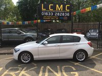 USED 2014 14 BMW 1 SERIES 1.6 116D EFFICIENTDYNAMICS 5d 114 BHP STUNNING MINERAL WHITE PAINT WORK, ALLOY WHEELS, AIR CON, CD PLAYER, BLUETOOTH, USB, BMW I DRIVE, ETC, ALLOY WHEELS, AIR CON, CD PLAYER, LOVELY CHARCOAL CLOTH INTERIOR