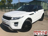 2012 LAND ROVER RANGE ROVER EVOQUE 2.2 SD4 DYNAMIC LUX 5d AUTO 190 BHP 4WD PAN ROOF SAT NAV LEATHER 20 ALLOYS £18490.00