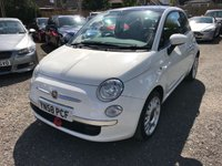 USED 2008 58 FIAT 500 1.4 LOUNGE 3d 99 BHP REALLY GOOD SPEC FIAT 500 LOUNGE, GLASS ROOF, 6 SPEED GEARBOX, LOW MILEAGE