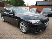 USED 2014 BMW 5 SERIES 520d M Sport 4dr Step Auto FSH+LEATHER+ALLOYS+CRUISE