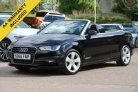 USED 2015 65 AUDI A3 2.0 TDI SPORT 3d 148 BHP CONVERTIBLE HEATED SEATS + NATIONWIDE DELIVERY AVAILABLE