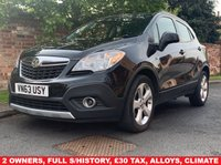 USED 2014 63 VAUXHALL MOKKA 1.7 EXCLUSIV CDTI S/S 5d 128 BHP 2 OWNERS, £30 ROAD TAX, FULL SERVICE HISTORY, MOT APR ,  EXCELLENT CONDITION, ALLOYS, CLIMATE, CRUISE, BLUETOOTH,  FOGS, RADIO CD, E/WINDOWS, R/LOCKING, FREE WARRANTY, FINANCE AVAILABLE, HPI CLEAR, PART EXCHANGE WELCOME,