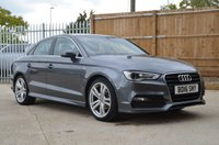 USED 2016 16 AUDI A3 1.4 TFSI S LINE NAV 4d Saloon 148 BHP Need finance? Good or poor credit history we can save you money wit our competitive HP and Lease purchase finance options. Apply online or call our sales team for a quote. Same day drive away.