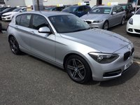 USED 2012 12 BMW 1 SERIES 1.6 116I SPORT 5d 135 BHP OUR  PRICE INCLUDES A 6 MONTH AA WARRANTY DEALER CARE EXTENDED GUARANTEE, 1 YEARS MOT AND A OIL & FILTERS SERVICE. 6 MONTHS FREE BREAKDOWN COVER. CALL US NOW FOR MORE INFORMATION OR TO BOOK A TEST DRIVE ON 01315387070 !!