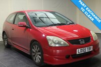 USED 2005 55 HONDA CIVIC 1.6 SPORT 3d 110 BHP MOT TO JAN 2020