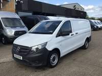 USED 2015 15 MERCEDES-BENZ VITO 1.6 111CDI LONG 114BHP NEW SHAPE. LOW 51,000 MILES. 1 OWNER 2X REAR BARN DOORS. LOW 31K MILES. FINANCE. PX