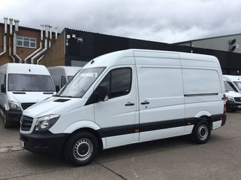 2015 MERCEDES-BENZ SPRINTER 2.1 313CDI MWB HIGH ROOF 130BHP LOW 63K. FSH. 1 OWNER. PX £10980.00