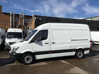 2017 MERCEDES-BENZ SPRINTER 2.1 314CDI MWB HIGH ROOF 140BHP EU6. MERC WARRANTY 09/2020 £17990.00