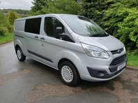 2015 FORD TRANSIT CUSTOM 2.2 330 LWB 5D 125 BHP AIR CON FACTORY NAV CRUISE ADDED WINDOW £9250.00