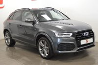 USED 2016 65 AUDI Q3 2.0 TDI QUATTRO S LINE PLUS 5d AUTO 182 BHP SAT NAV + HEATED FULL LEATHER + BLACK PACK STYLING + ELECTRIC BOOT