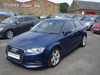 USED 2014 14 AUDI A3 1.4 TFSI SPORT 3d 121 BHP ROAD TAX ONLY £30 A YEAR