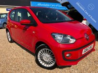 USED 2012 62 VOLKSWAGEN UP 1.0 HIGH UP 3d 74 BHP Sat Nav, Heated Seats, 1 Lady Owner
