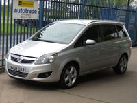 USED 2008 08 VAUXHALL ZAFIRA 1.8 SRI 5d 140 7 Seater Alloys  Finance arranged Part exchange available Open 7 days