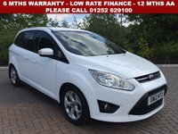USED 2012 FORD GRAND C-MAX 2.0 ZETEC TDCI 5d 138 BHP All retail cars sold are fully prepared and include - Oil & filter service, 6 months warranty, minimum 6 months Mot, 12 months AA breakdown cover, HPI vehicle check assuring you that your new vehicle will have no registered accident claims reported, or any outstanding finance, Government VOSA Mot mileage check.    Because we are an AA approved dealer, all our vehicles come with free AA breakdown cover and a free AA history check. Low rate finance available. Up to 3 years warranty available.