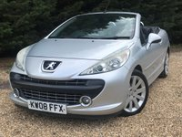 USED 2008 08 PEUGEOT 207 1.6 GT COUPE CABRIOLET 2d AUTO 118 BHP