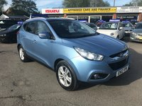2012 HYUNDAI IX35 1.7 PREMIUM CRDI 5d 114 BHP IN METALLIC BLUE WITH 72000 MILES WITH SAT NAV AND A GREAT SPEC. £6999.00
