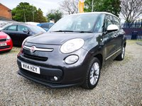 USED 2014 14 FIAT 500L 1.2 MULTIJET LOUNGE 5d  £20 YR ROAD TAX, HALF LEATHER
