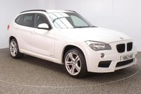 USED 2013 13 BMW X1 2.0 XDRIVE18D M SPORT 5DR HEATED LEATHER 141 BHP SERVICE HISTORY + HEATED LEATHER SEATS + PARKING SENSOR + BLUETOOTH + CRUISE CONTROL + CLIMATE CONTROL + MULTI FUNCTION WHEEL + PRIVACY GLASS + DAB RADIO + ELECTRIC WINDOWS + RADIO/CD/AUX/USB + ELECTRIC MIRRORS + 18 INCH ALLOY WHEELS