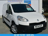 USED 2014 14 PEUGEOT PARTNER 1.6 HDI PROFESSIONAL L1 850 Panel Van with NO VAT TO PAY SO SAVE 20% and Ready to Drive Away Today **PERFECT WORK VAN**