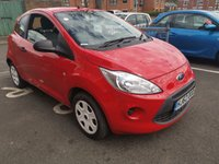USED 2012 62 FORD KA 1.2 STUDIO 3d 69 BHP CHEAP TO RUN, LOW CO2 EMISSIONS, £30 ROAD TAX! AND EXCELLENT FUEL ECONOMY! GOOD SPECIFICATION INCLUDING AUXILIARY INPUT AND EXCELLENT FUEL ECONOMY! ONLY 8963 MILES FROM NEW! MEETS LARGE CITY EMISSION STANDARDS