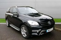 USED 2014 14 MERCEDES-BENZ M CLASS 2.1 ML250 BLUETEC AMG SPORT 5d AUTO 204 BHP MANY EXTRAS!  DIESEL AUTO 4WD-FINANCE ME TODAY-UK DELIVERY POSSIBLE