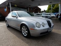 USED 2005 55 JAGUAR S-TYPE 2.7 V6 SE 4d AUTO 206 BHP SAT NAV,LEATHER,TWO KEYS,AIR CON,PARKING SENSORS,NICE MILES