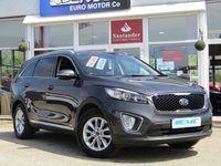 USED 2017 17 KIA SORENTO 2.2 CRDI KX-1 ISG 5d 197 BHP STUNNING, BALANCE OF KIA 7 YEAR WARRANTY, KIA SORENTO 2.2 CRDI KX-1 ISG 7 SEATER 197 BHP. Finished in GRAPHITE GREY METALLIC with contrasting BLACK CLOTH trim. This car comes with the balance of Kia 7 year warranty with FSH. The Kia Sorento is one of the best 7 Seater, 4x4, MPV's on the market today, It offers striking looks and makes an ideal family and towing SUV with great specification. Features include, DAB Radioo, B/Tooth, Cruise Control, Park Sensors, Low mileage and much more.
