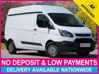 USED 2014 14 FORD TRANSIT CUSTOM 2.2 TDCI LWB HIGH ROOF 310 L2H2 PANEL VAN HIGH ROOF LONG WHEEL BASE 3.1T PLYWOOD-LINED BLUETOOTH