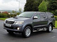 2012 TOYOTA HI-LUX 3.0 INVINCIBLE 4X4 D-4D DCB 1d AUTO 169 BHP £SOLD