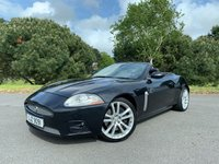 USED 2007 07 JAGUAR XKR 4.2 XKR 2d AUTO CONVERTIBLE SUPERB XKR CONVERTIBLE WITH ONLY 65000 FSH IN BLACK WITH FULL BLACK LEATHER