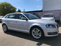USED 2011 60 AUDI A3 2.0 TDi SPORTBACK SPORT 5d 138 BHP WITH SERVICE HISTORY AND CAMBELT CHANGED NO DEPOSIT HP FINANCE ARRANGED , APPLY HERE NOW